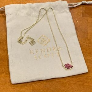 Kendra Scott Tess drusy pendant necklace
